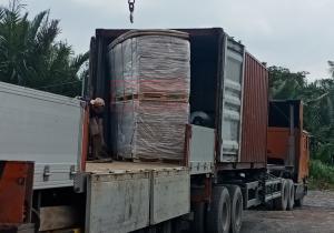 Bàn gia container tấm da cửa HDF 5mm cho đơn vị đối tác tại Lũy Bán Bích, P. Tân Thành, Q. Tân Phú, Tp. HCM
